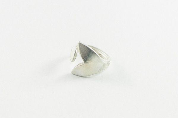 Anillo little sirena bañado en plata