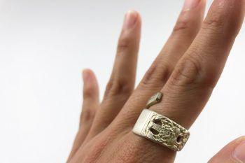 anillo cubierto detalles