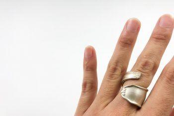 anillo mango cubierto