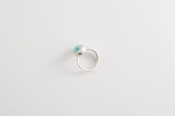 anillo turquesa oval