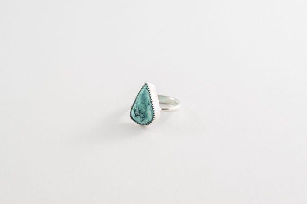 anillo turquesa gota